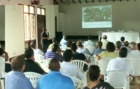 One of the presentations in progress