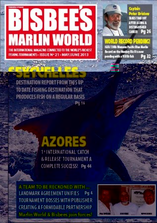 The cover of Bisbee's Marlin world May edition
