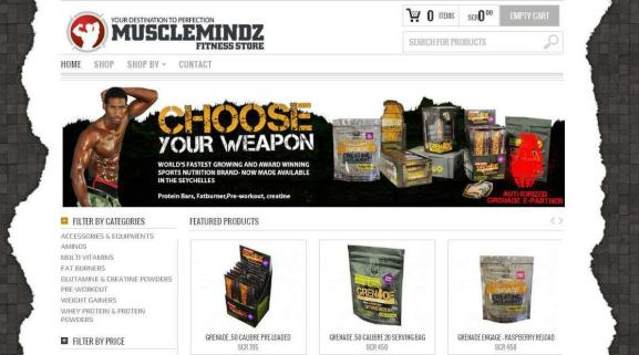 The Muscle Mindz website