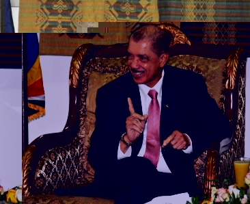 President Michel during the interview in the VIP lounge of the Addis Ababa Bole international airport