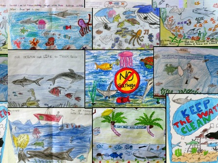 Fantastic artwork by some young marine conservationists