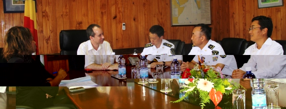 The Chinese delegation in talks with Minister Morgan