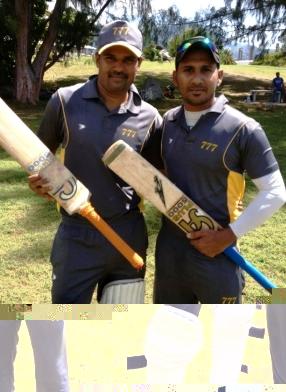 777's Shiva Kumar (left) and Suranga