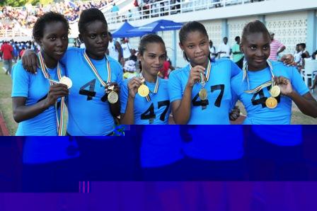 Seychelles Police Academy girls relay team