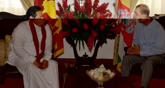 Tête à tête between President Rajapaksa and President Michel at State House