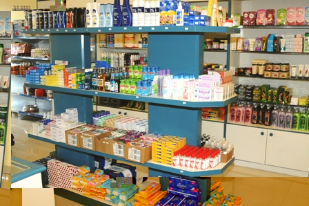Some of the products on sale at the pharmacy