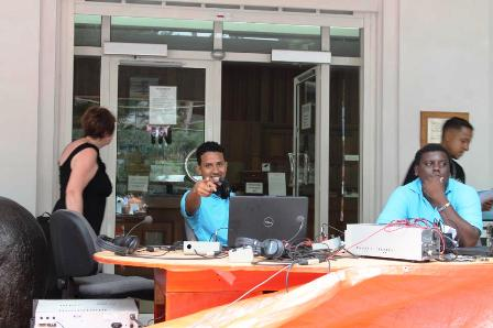 DMC/TAJ during one of Paradise FM's roadshow