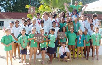 students at the International School on Praslin, Seychelles