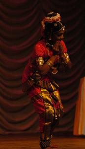 A dance performance at the Pongal Festival event on Sunday