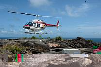 The 'Heli-bird' box was transferred by Helicopter Seychelles. Photo by Mike Myers