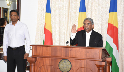 Justice Fernando sworn in as president of the Court of Appeal