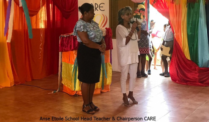 Care Rainbow project launched at Anse Etoile school