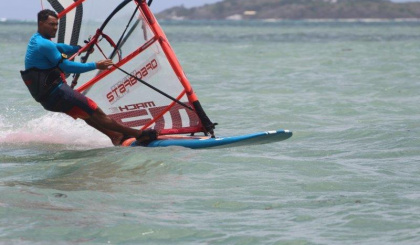 Windsurfing and kite surfing Mahé to Praslin race